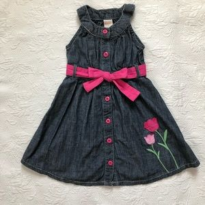 Gymboree Spring Jean Dress 3 tulips